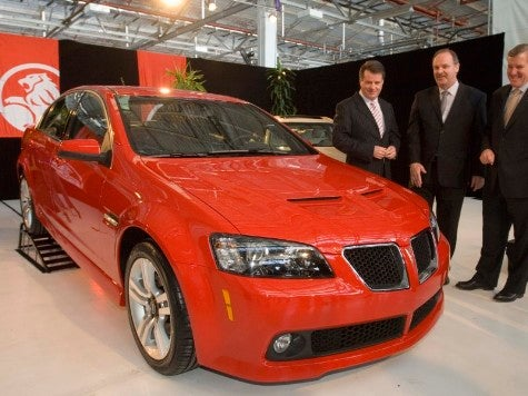 First Pontiac G8 Rolls Off Holden Assembly Line