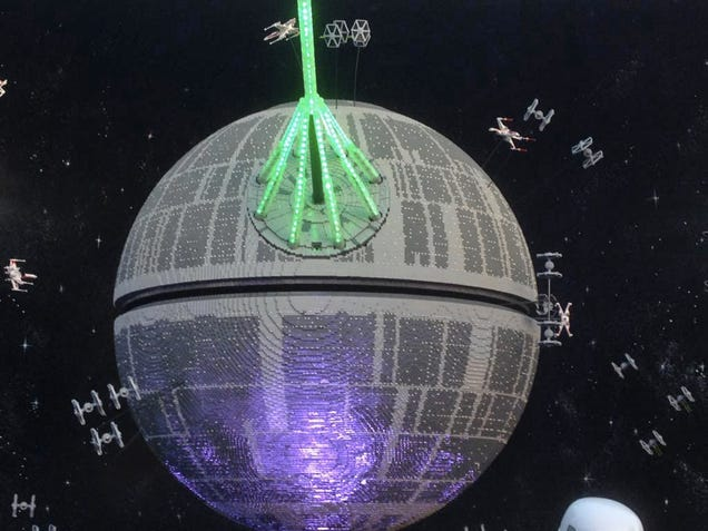 It took half a million bricks to build Legoland's new Death Star