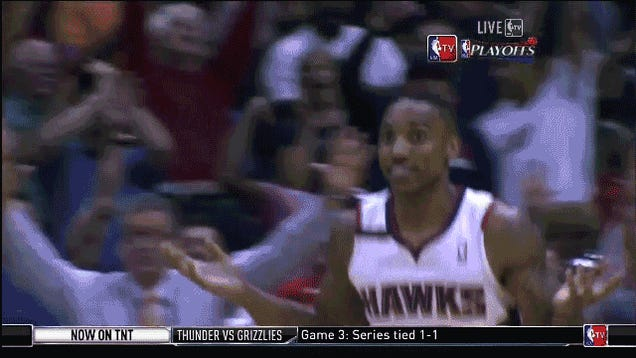 Jeff Teague Hits One-Footed, Contested Three To Beat The Shot Clock