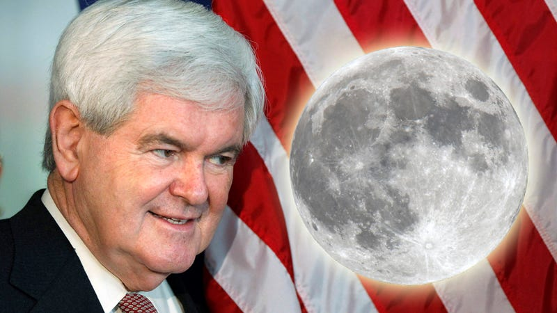 Newt Gingrich Will Establish a Permanent Moon Base, But What About Mars?
