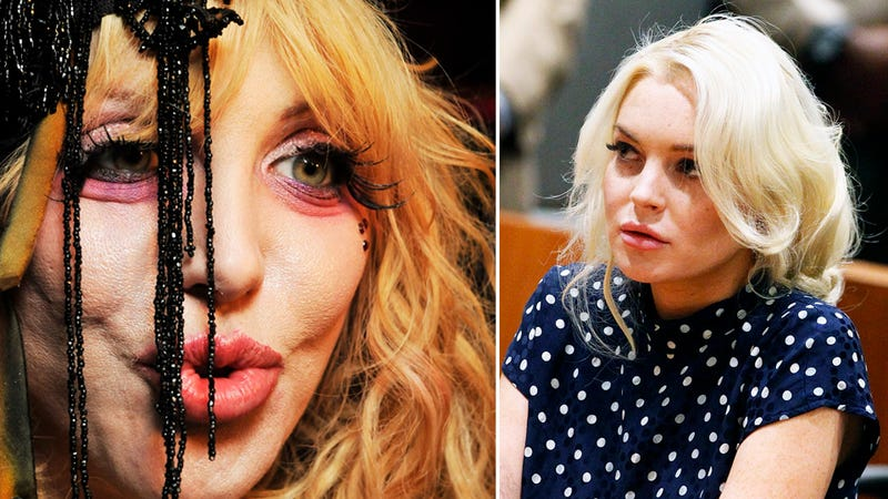Lindsay Lohan's New Sober Coach: Courtney Love