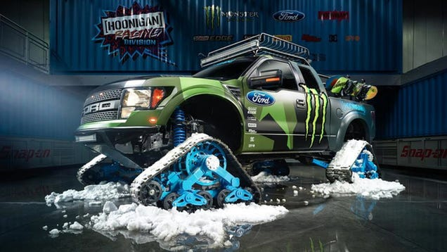 Ken Block's RaptorTRAX Is A Snow-Murdering SuperTruck