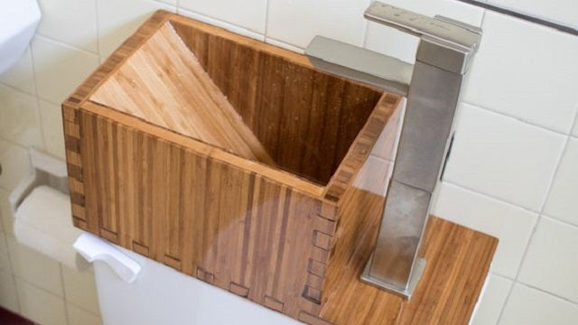 Conserve Water at Home With This Stylish Toilet Top Sink
