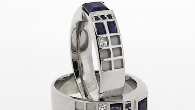 Pledge your love across time and space with a TARDIS engagement ring
