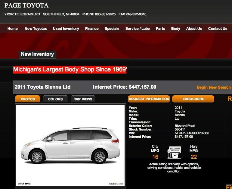 Top 10 Overpriced Vehicles