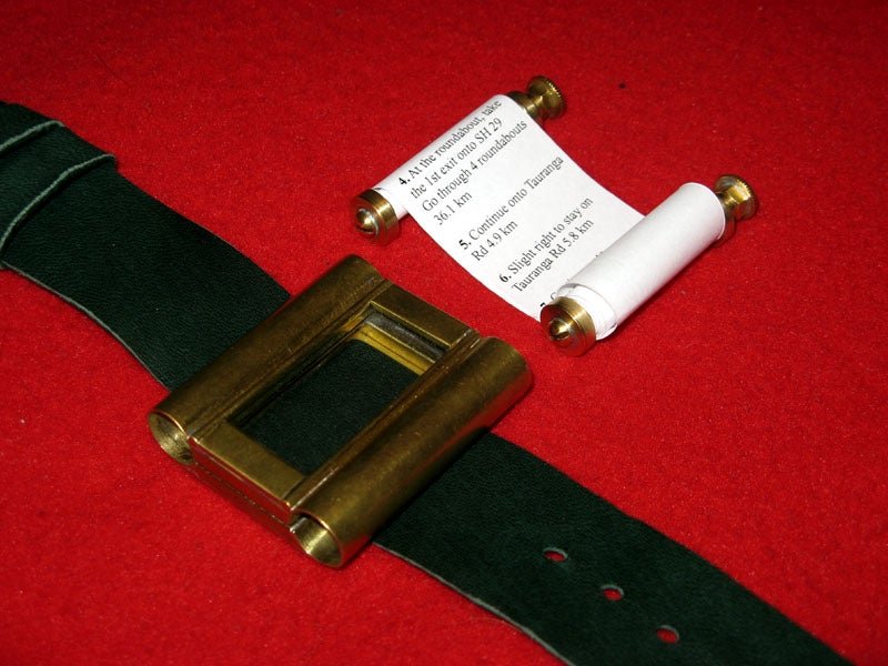 "Ye Olde Google Maps Navigator ""Wristwatch"""