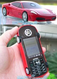 Unlicensed Ferrari Cellphone: Cheap, Lame