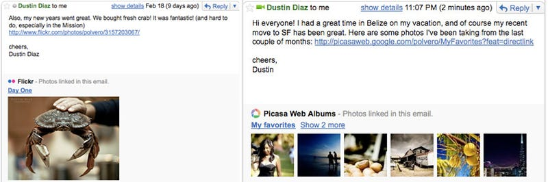 Gmail Lets You Take Back Sent Messages, Gets Built-in YouTube, Flickr and Yelp Previews