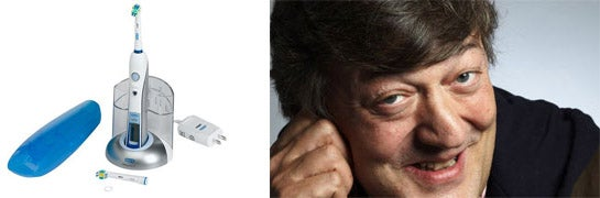 Stephen Fry Reviews Oral B Professional Care Triumph, Loves It