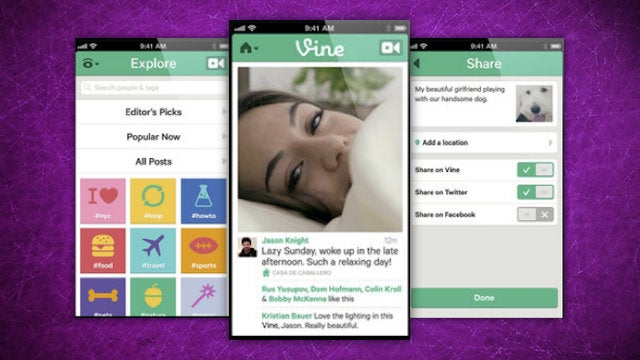 Vine Is a Mobile App for Shooting and Sharing Short, Looped Videos