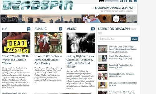 Look At All The Pretty Pictures: The iPad-Friendly Deadspin