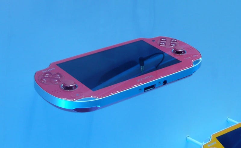 It's a Gold PlayStation Vita! (And a Red One, a Blue One, A Green One...)