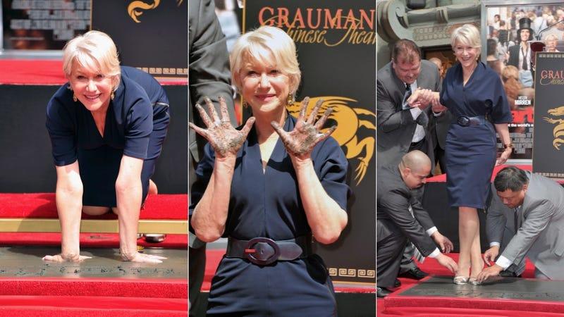 Helen Mirren's Not Afraid To Get Her Hands Dirty