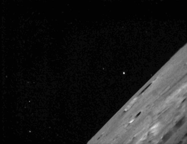 The first lunar photos from NASA's LADEE spacecraft are an accident
