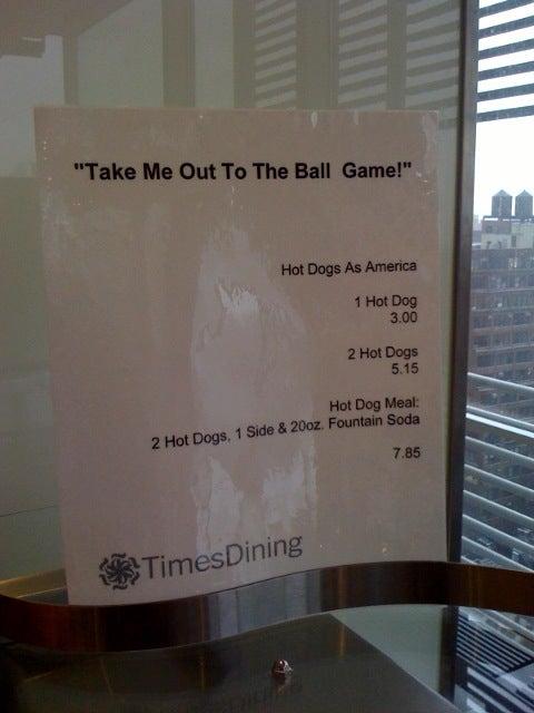 Today's Lunch at the 'Times': America