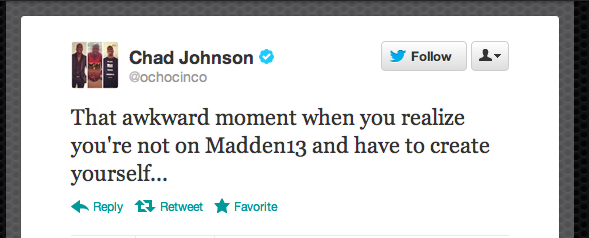 Oh Man, Chad Johnson, This Tweet Is Heartbreaking [UPDATE]