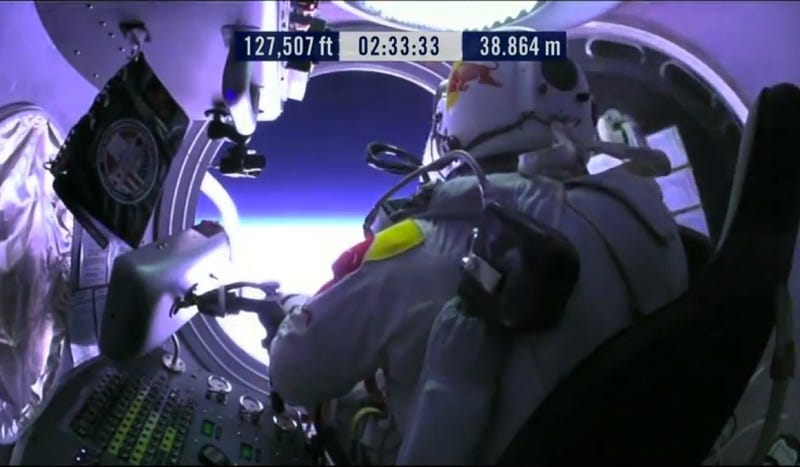 Watch Red Bull's Record Breaking Stratos Space Jump Live Right Now [SUCCESS!!]