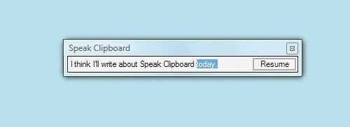 Speak Clipboard Reads Your Clipboard's Content Out Loud