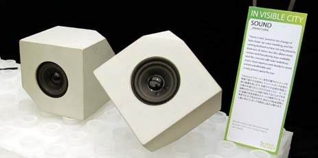 In Visible City Concrete Speakers