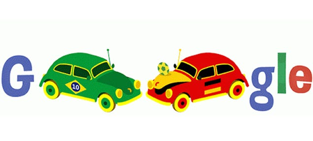 Brilliant World Cup Google Doodle Is A Salute To The Volkswagen Beetle