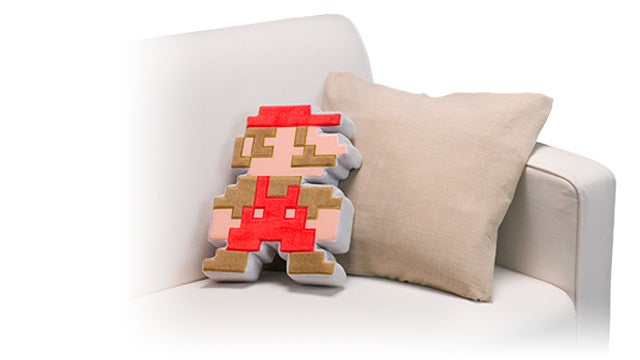Daily Desired: Pixelated Mario Cushion From Japan's Club Nintendo