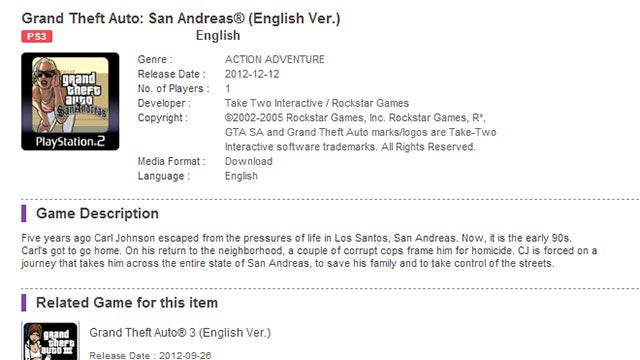 San Andreas Looks Like It's Coming To The PS3 [Update]