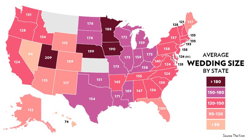 Mormons Do It Big: The Geography Of American Weddings