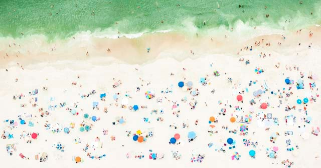 These Aerial Beach Photos Were Shot While Dangling from a Helicopter