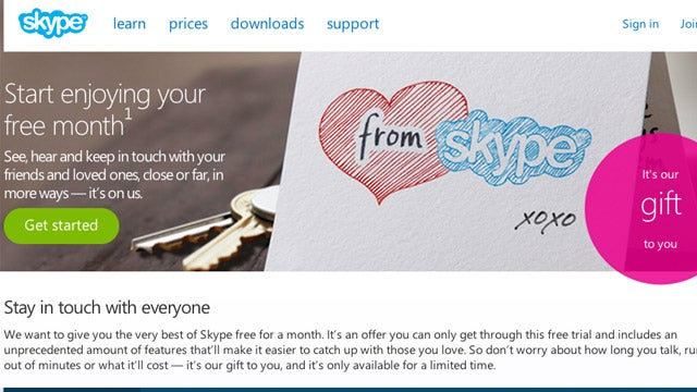 Get a Free Month of Unlimited Worldwide Calling on Skype