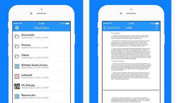 Amazon's DedicatedCloud Drive App Comes toiOS