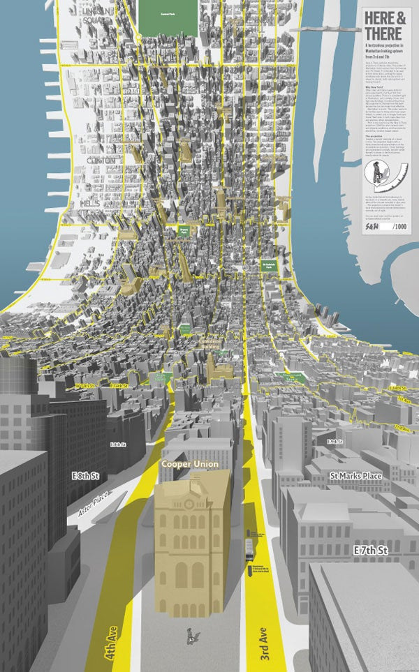 NYC Horizonless Map Projection Is Tripping Us Out