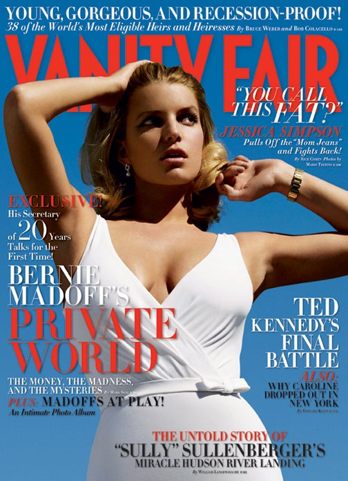 "Vanity Fair Writer Sees Jessica Simpson, Thinks ""Fat"""