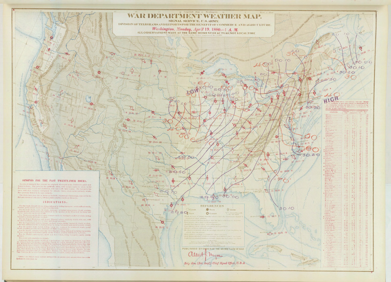 Historic Weather Maps: Tornado Outbreak of April 18, 1880