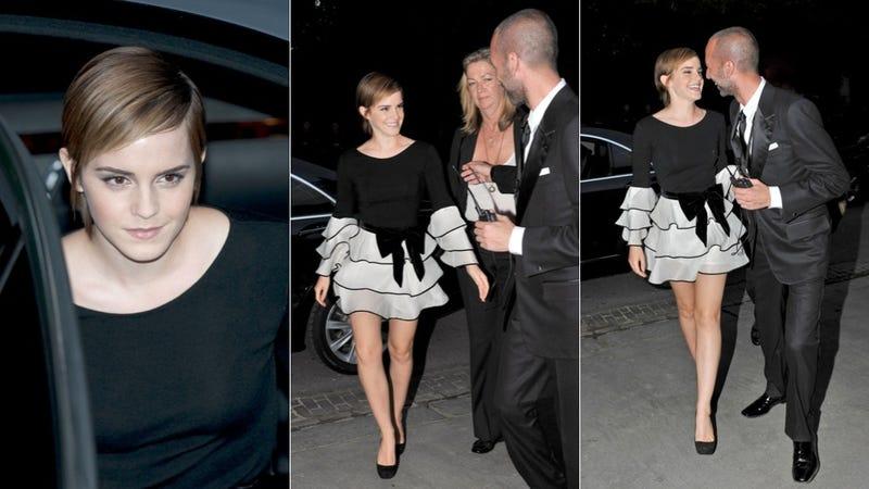 Emma Watson's Hair & Skirt Are Pretty, Short & Pretty Short