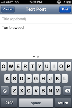 Tumblr 2.0 for iPhone Gallery