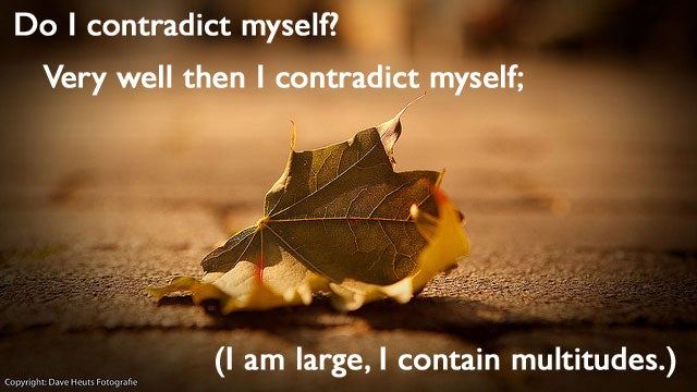 """I Am Large, I Contain Multitudes"""