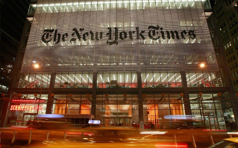 NYT Pays Off Its Extortionate Foreign Credit Card
