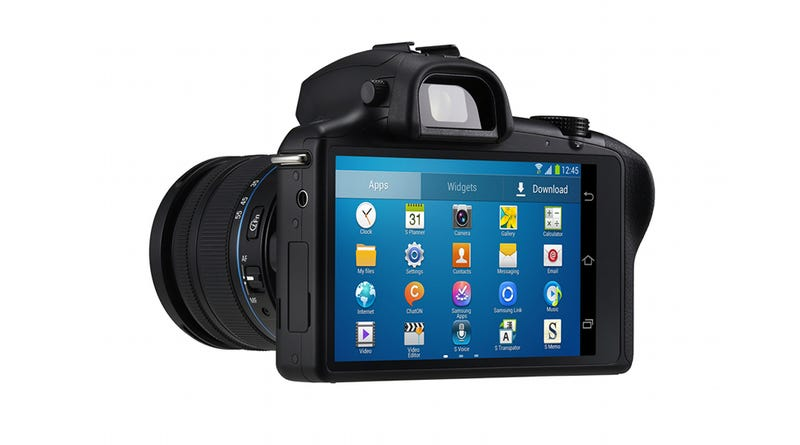 Samsung's Galaxy NX Is Loaded: Big Sensor, Lenses, Android UI and LTE