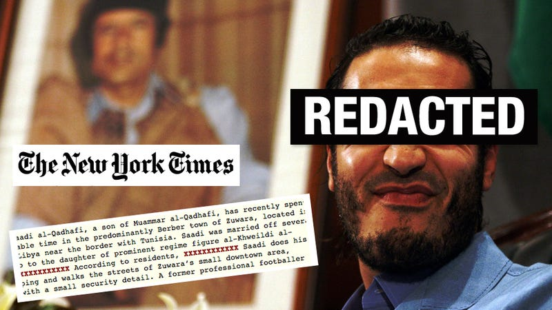 Qaddafi's Son Is Bisexual and Other Things the New York Times Doesn't Want You to Know