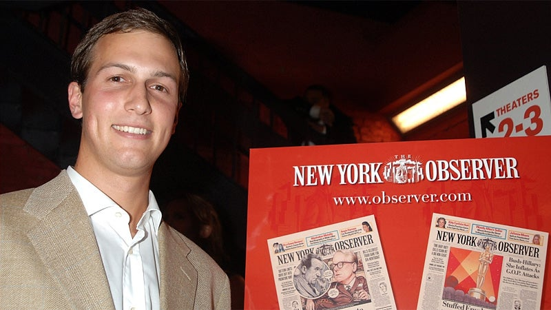 Donald Trump's Son-In-Law Orders Occupy Wall Streeters to Go Home
