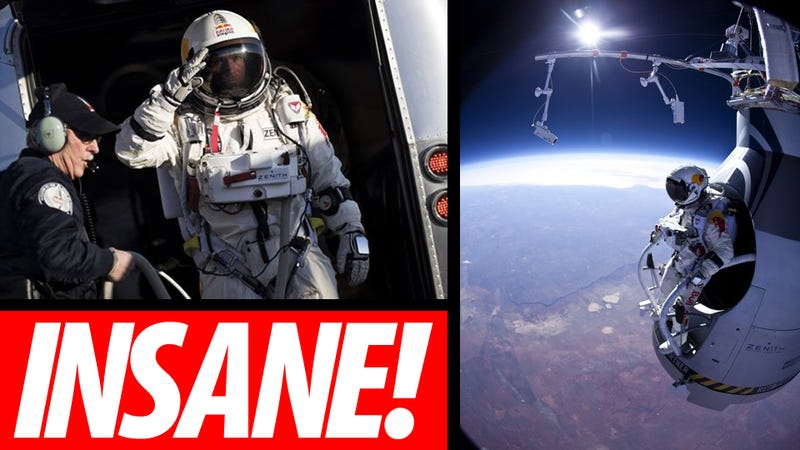 Fearless Man Makes Successful 13-Mile Space Jump