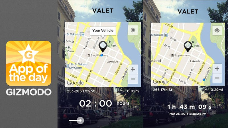 Valet App Remembers Where You Parked Your Car So You Don't Have To