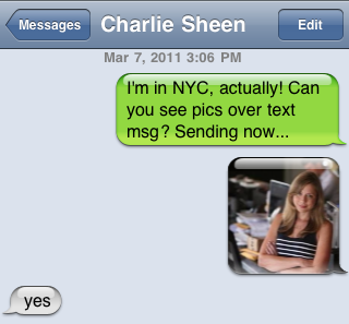 I Played Phone Tag With Charlie Sheen