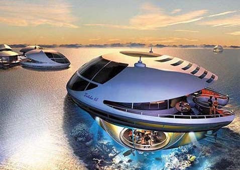 UFO Yacht Controlled by Joystick