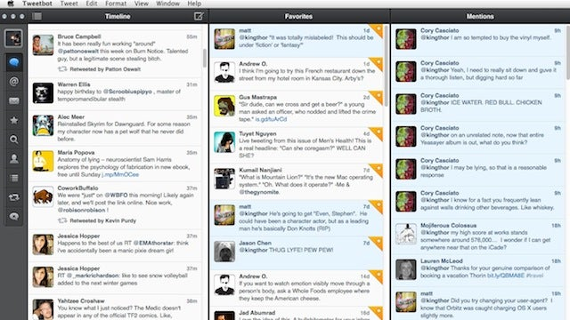 Tweetbot for Mac Updates with Column View, a Menu Bar Icon, and More