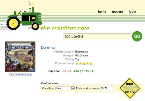 The Tracktor Indexes Amazon Prices and Issues Low-Price Alerts