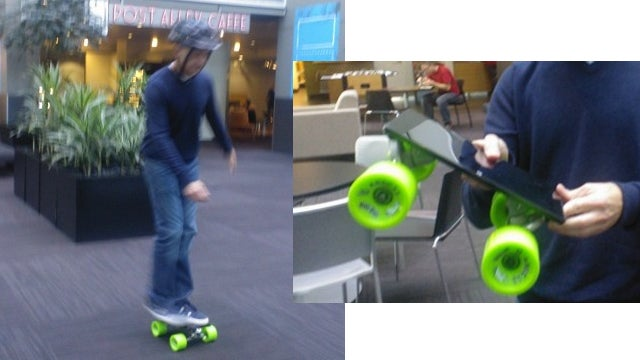 Microsoft's Surface Makes For a Decent Skateboard