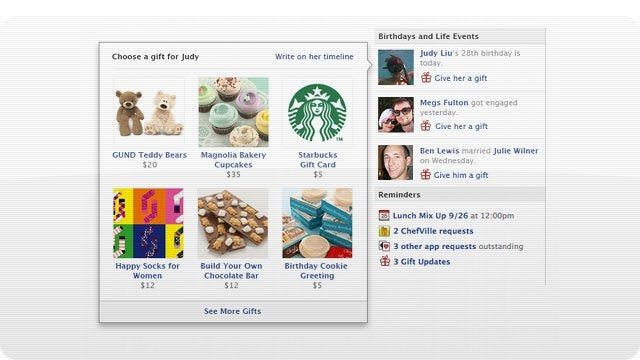 You Can Now Use Facebook to Buy Real Birthday Gifts For Your Friends
