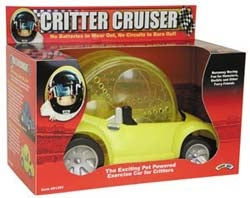 Hamster Wheel Powered Toy Car