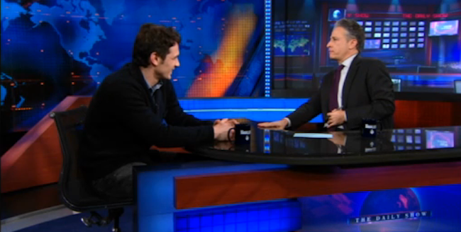James Franco's Arm Gets Trapped in a Daily Show Mini-Fridge